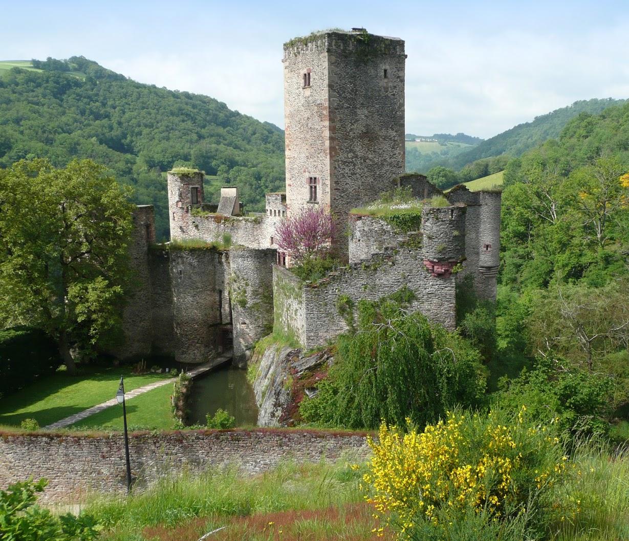 vue d'ensemble du chateau de belcastel