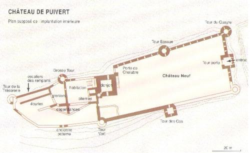 plan du château de Puivert